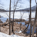 Thompson Pond: Looking across the pond to the south.- Hudson Valley's 8 Best Snowshoe Adventures