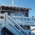 The Watchman lookout tower.- Winter Adventures in Crater Lake National Park