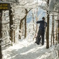Summit of Table Top Mountain.- A Winter Adventure Weekend in Lake Placid, New York