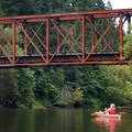 Train bridge near Tualatin Community Park on the Tualatin River.- Essentials for a Day of River Floating