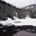 Twin Lakes in the winter.- 35 Amazing Snowshoe Trails in Washington