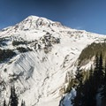 View of Mount Rainier (14,411') from Nisqually Vista Snowshoe Trail.- Amazing Snowshoe Trails in Washington