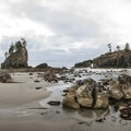 La Push, Second Beach panoramic view.- 16 Best Hikes on the Washington Coast