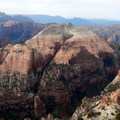 South Guardian Angel rises abruptly above the Subway, a popular canyoneering route.- Zion National Park