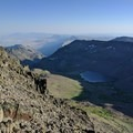 Looking down at Wildhorse Lake from the Steens Mountain Summit.- The Thru-Hike You've Never Heard Of: The Oregon Desert Trail
