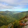 Autumn view from Chimney Tops, Great Smoky Mountains National Park.- Great Smoky Mountains National Park