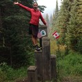 The end of the PCT! Monument 78 at the U.S. and Canada border.- America's Incredible Thru-Hikes