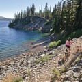 Whenever the trail comes close to the shore, it becomes rockier and more technical.- The Pacific Northwest