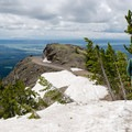 Big vistas from Dunraven Pass.- Mount Washburn via Dunraven Pass