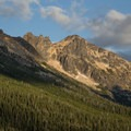 View southeast from Washington Pass Overlook.- Washington Pass Overlook
