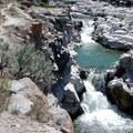 Water tumbles down Cauldron Linn in the Snake River.- Idaho's Best Adventure Towns
