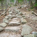 Stone steps on the trail to Welch. - Incredible Adventures in New Hampshire's White Mountain National Forest