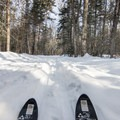 Skiing to Lake Placid on the Whiteface Landing Ski Trail.- Winter Destination Spotlight: 48 Hours in the Adirondacks