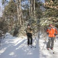 Skiers along the trail to Lake Placid.- 5 Must-Do Adirondack Snowshoe and Ski Trails