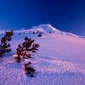 The dry, crusty, wind-beaten snow in Mount Hood Wilderness.- Wander Among Wilderness Areas