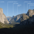 The iconic cliffs from Tunnel View in Yosemite.- Breathtaking Cliffside Vistas
