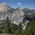 View to Nevada Falls, Liberty Cap and Half Dome from the Panorama Trail- Panorama Trail via Glacier Point