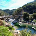 Overlooking the old Highway 49 bridge.- A Guide to Fall Adventure in California