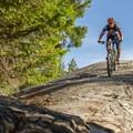 Optional rock roll on Fountain of Love at Lost Lake Mountain.- Mountain Biking in British Columbia