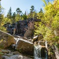 Zealand Falls in low water.- Incredible Adventures in New Hampshire's White Mountain National Forest