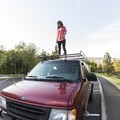 Brittany and her van Gretchen. Photo by Lance Koudele.- Woman In The Wild: Brittany Crook