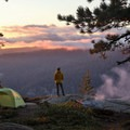 Camping in Yosemite during a backpacking trip. Photo by Corey Fitzgerald.- Woman In The Wild: Cait Bourgault
