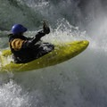 Susan Hollingsworth Elliott paddles down a waterfall on Canyon Creek, Washington.- Sheroes in the Outdoors