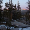 A winter sunset from the base of Cathedral Peak.- Wednesday's Word - Tuolumne