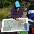 Reviewing the proposed Spraddle Creek Wilderness area on the map.- Protecting Spraddle Creek Wilderness and the Continental Divide