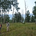 A group of volunteers tour the proposed area.- Protecting Spraddle Creek Wilderness and the Continental Divide