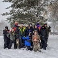 Scout troop in the snow.- Tips for Leading Beginners into the Great Outdoors