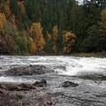 Fall along the Clackamas River.- Rivers of Oregon
