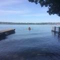 rowing out from Proctor Landing- Mercer Island Sea Kayaking Loop