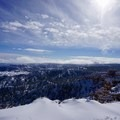 A scenic overlook, the snow really contrasts the incredible geology of Bryce Canyon.- Fairyland Loop