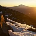 Sunrise on above snowline- Mount St. Helens Hike, Monitor Ridge Route