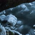 Frozen plunge pool- Horsetail, Ponytail + Triple Falls Hike
