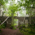The hotel ruins are a great place to spend time on a foggy day- Overlook Mountain
