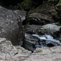 Fishing in the lower gorge- Bingham Falls