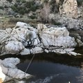 View of creek and springs overhead- Deep Creek Hot Springs