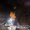 Lighting the way over the uneven surfaces- Ape Caves