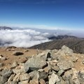 View NNW. Extremely windy!- Mount Baldy Summit via Ski Hut Trail