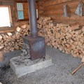 A warm fire and lots of firewood on Dec. 31- South Loop Spur Trail