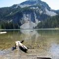 Sawtooth Mountain in the background.- Indigo Lake Trail
