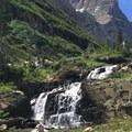waterfall just before Shangri La lake- Iceberg Lake