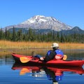 The perfect view- Hosmer Lake Canoe/Kayak