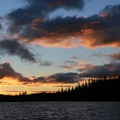 Sunset on Waldo Lake from North Campground- Waldo Lake, North Waldo Campground