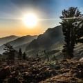 Sunset views from Monarch Lake are mind-blowing!- Glacier Pass, Sawtooth Pass + Big Five Lakes Hiking Loop