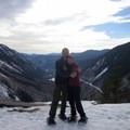 Five minutes after I proposed!!- Mount Willard: Winter Hike