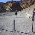 Entrance to mosaic canyon trail.- Mosaic Canyon Trail