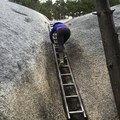One of 2 ladders on the way up- Stawamus Chief Summit Trail Hike
